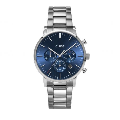 Aravis Chrono Steel Dark Blue, Silver Colour